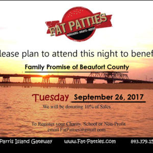 Fat Patties of Beaufort Giveback Night
