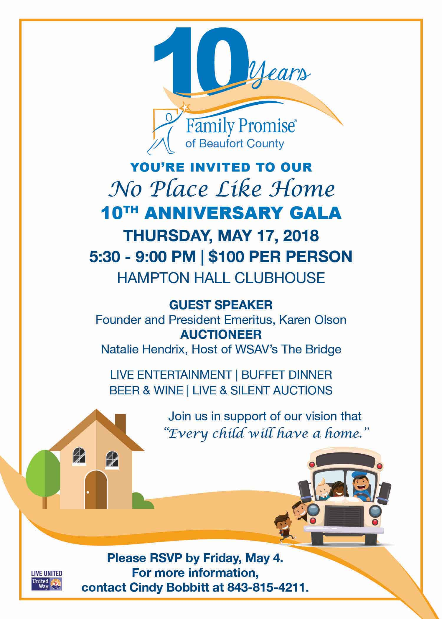 No Place Like Home 10th Anniversary Gala - Family Promise of